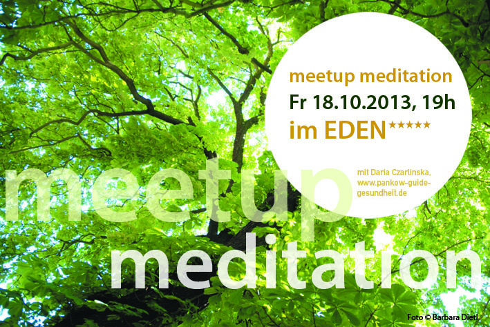 MeetUp Meditation 18_10_2013 Einladung
