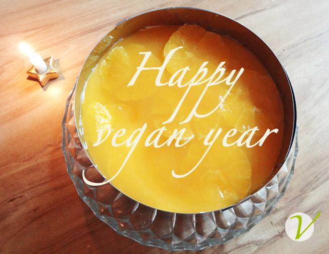 torte vegan happy new year with icon